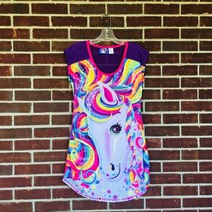 Lisa Frank Sz XS, Rainbow Unicorn Nightgown